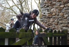 Barrière avec Stéphane et Roi lors d'un PTV aux écuries